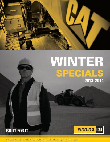 View Brochure for complete details - Finning Canada