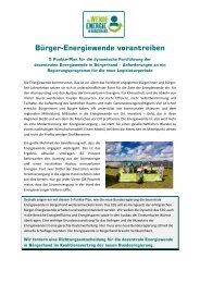 """5-Punkte Programm """"Bürger-Energiewende vorantreiben"""" - Die ..."""
