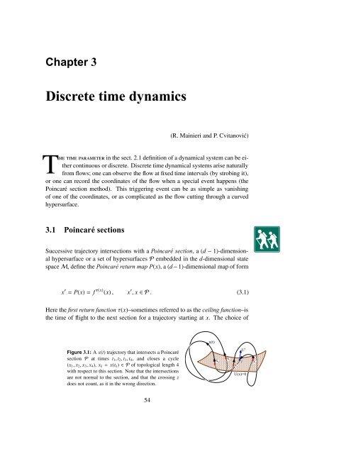 Chapter 3 Discrete time dynamics - ChaosBook