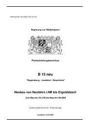 B 15 neu - Die Regierung von Niederbayern