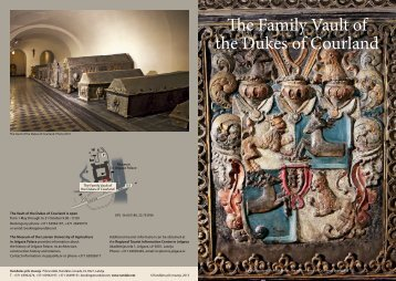 The Family Vault of the Dukes of Courland - Rundāles pils