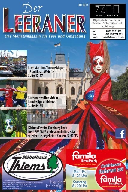 Leer Maritim, Tourenskipper - Stadtfest - Weinfest Seite 12-17 ...