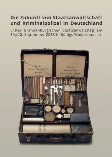Die Zukunft von Staatsanwaltschaft und Kriminalpolizei in Deutschland