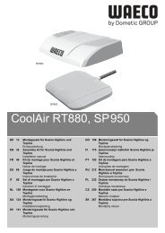 CoolAir RT880, SP950 - Waeco