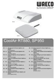 CoolAir RT880, SP950 - Waeco