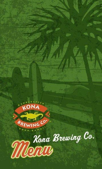 Menu - Kona Brewing Company