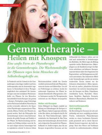lesen - Gemmotherapie