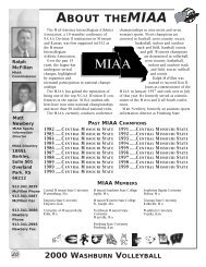 About the MIAA/ '99 in aaReview - Washburn Athletics