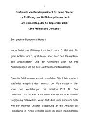 060915-Philosophicum Lech - Bundespräsident