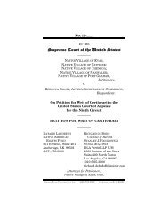 Supreme Court of the United States - Native American Rights Fund
