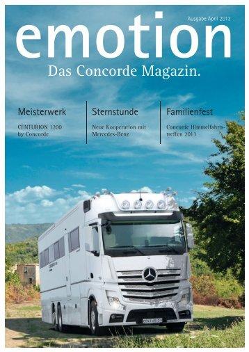 Das Concorde Magazin. - Concorde Emotion