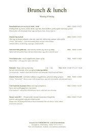 Brunch & lunch - Hotel Britannia