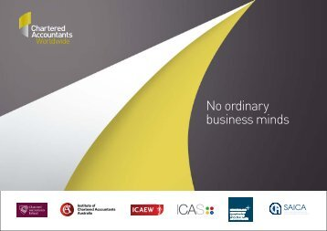 No ordinary business minds - Chartered Accountants Worldwide