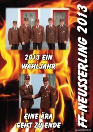 Jahresbericht 2013 - FF Neusserling