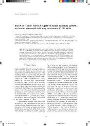 45 Effect of Allium sativum (garlic) diallyl disulfide - MSPTM