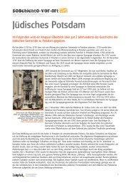 Jüdisches Potsdam – 18. bis 20. Jahrhundert - Geschichte vor Ort