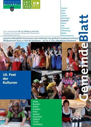 10. Fest der Kulturen - Marktgemeinde Rankweil