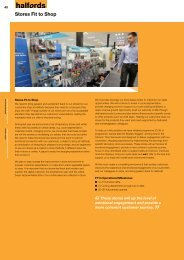 Stores Fit to Shop - Halfords Group plc Online Annual Report 2013