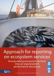 Approach for reporting on ecosystem services - BIP Indicators