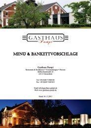 Menü- & Büffetvorschläge - Gasthaus Pampi