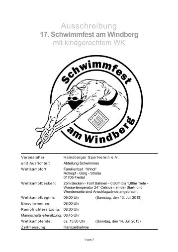 17. Schwimmfest am Windberg - 1dsg.de