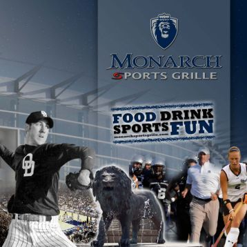 View menu on Monarch Sports Grill's website - Recovery Sports Grill