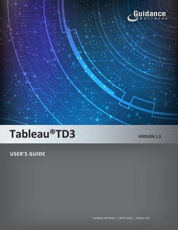 Tableau® TD3 Version 1.3 User's Guide