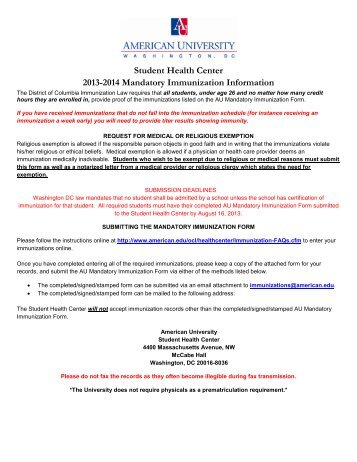 Mandatory Immunization Health History Form - UCF College of ...