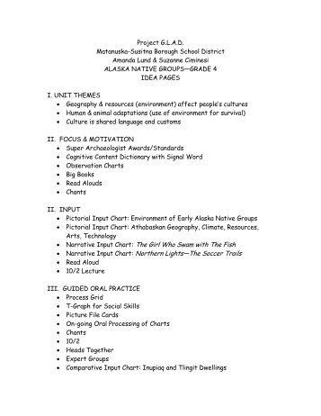 Alaska Native Cultures - Matanuska-Susitna Borough School District
