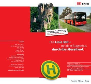 Die Linie 330 – mit dem Burgenbus durch das Moselland.