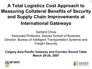 Collateral Benefits of Security and Supply Chain Improvements at ...