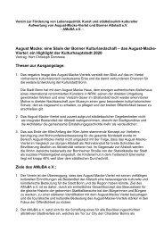 das August-Macke- Viertel - Stadtplan der Bundesstadt Bonn