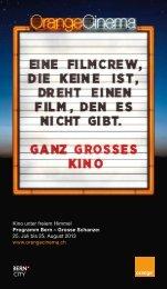 Kino unter freiem Himmel Programm Bern – Grosse Schanze: 25 ...