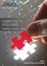JBM Cadmium - Executive MBA Brochure