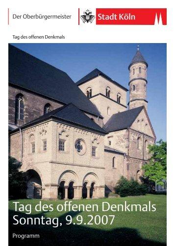 Sie können die Broschüre zum Tag des offenen Denkmals 2007 hier ...