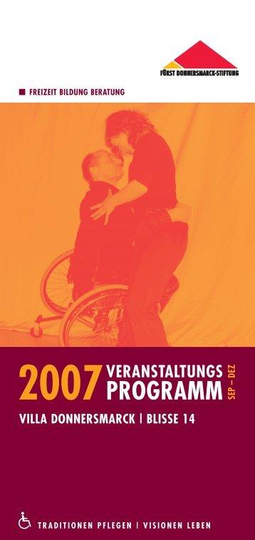 Programm - Fürst Donnersmarck Stiftung