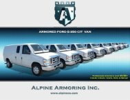 ARMORED FORD E-350 CIT VAN - Alpine Armoring Inc.