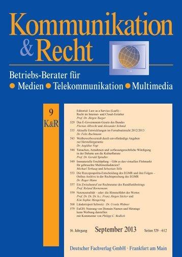Betriebs-Berater für Medien Telekommunikation ... - DAMM & MANN