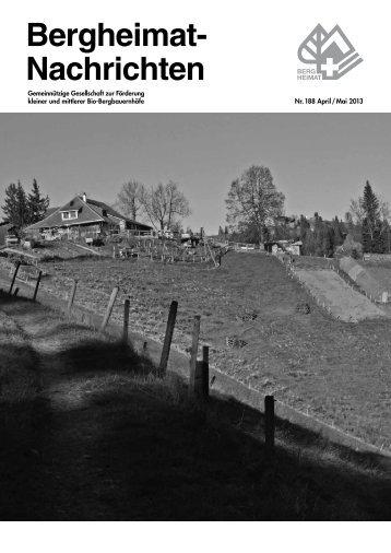 Bergheimat- Nachrichten - Schweizer Bergheimat