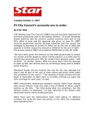 PJ City Council's accounts are in order