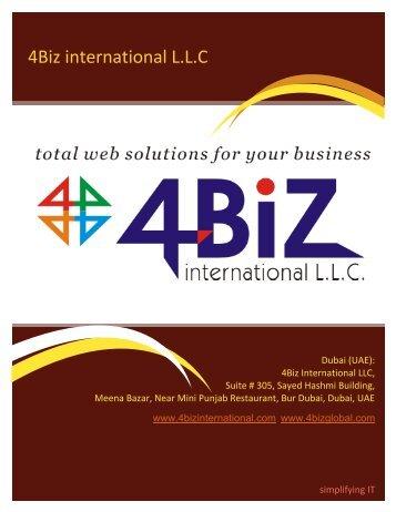4Biz international L.L.C - websitedesignindubai.com