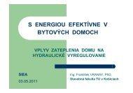 vplyv zateplenia domu na hydraulické vyregulovanie