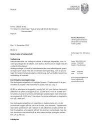 Aarhus Kommune Emne: Udbud af Ø3 Til: Notat til indstillingen ...