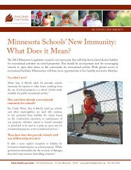 Minnesota Schools' New Immunity: What Does it Mean?