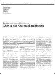 Escher for the mathematician