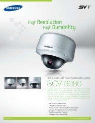 Samsung SCV-3080 vandal dome Datasheet