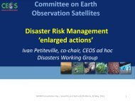 Committee on Earth Observation Satellites ... - PreventionWeb