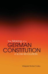 Making of a German Constitution : a Slow Revolution