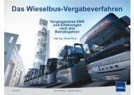 Das Wieselbus-Vergabeverfahren