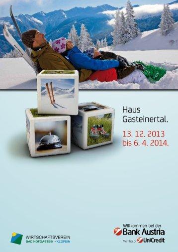 Winteraussendung 2013/14 - Bank Austria